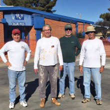 Paint crew, left to right: Sam Miller, Stan Fly, Joe Jones and Bruce Deverman