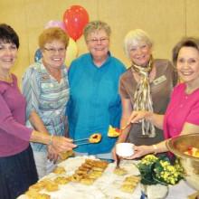 The Fellowship Committee: Pat Morris, Nancy Klawitter, Margaret Falkowski, Sue Reggentin and Vicki Tessitore.