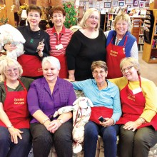 Standing, left to right: Joan Cohen, Diane Pettit, Ginny Berkey, Eithne Cook; seated: Annie Maud, Connie Campbell, Bev Harpold, Nancy Krauss; not pictured: Charlotte James, Libby Cohen, Judy Jenkins, Laura Ingold, Beth Mullens, Marie Tayburn, Gayl VanNatter