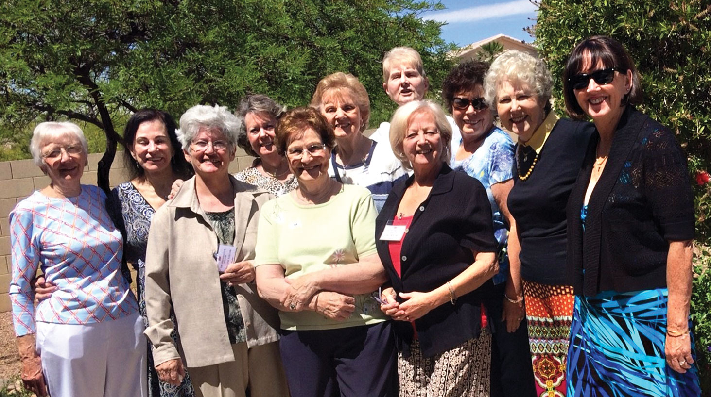 The April British coffee morning was hosted by Joan Reichert.