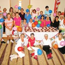 Line Dance Club members throw a birthday bash.