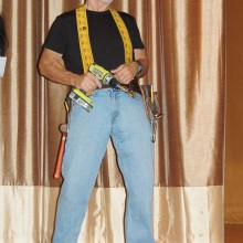 Ron the handy man is ready to repair anything on his tour of the town.