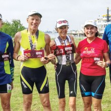From left: Rodger Bivens, Charlie Woodhouse, Teresa Woodhouse, Diane Wagner and Len Kershaw