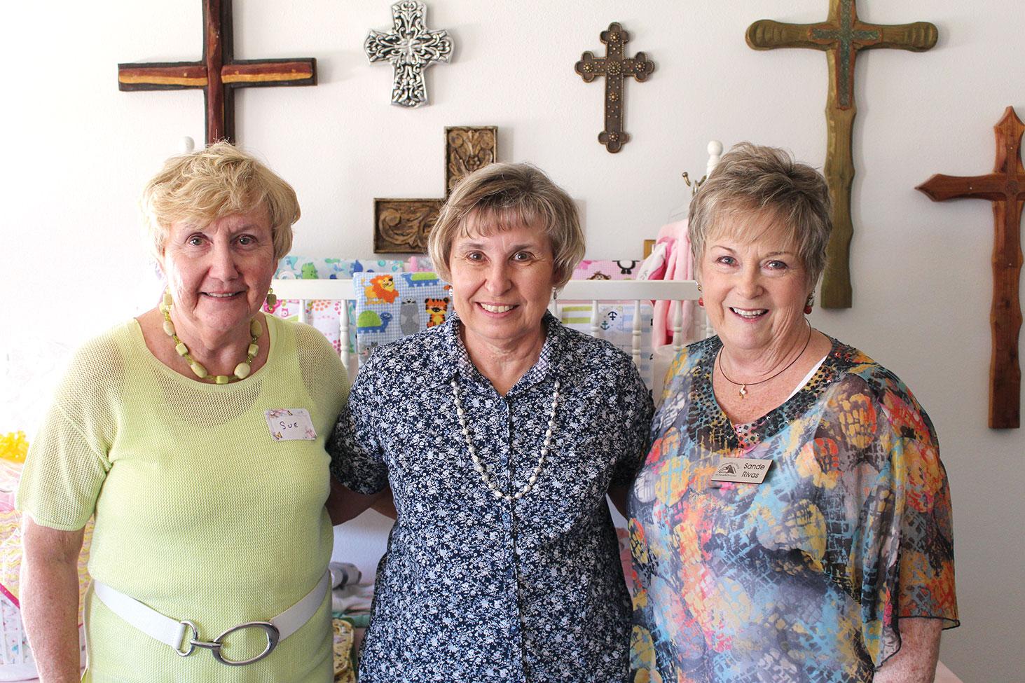 Left to right: Sue Birky, Clare Grochocki and Sande Rivas