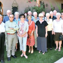 The British Club enjoyed a tea party and lunch near the Tortolita Mountains.
