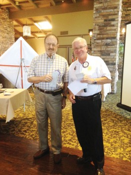 Bob Allen awards cash donations from Rotary Club of SaddleBrooke