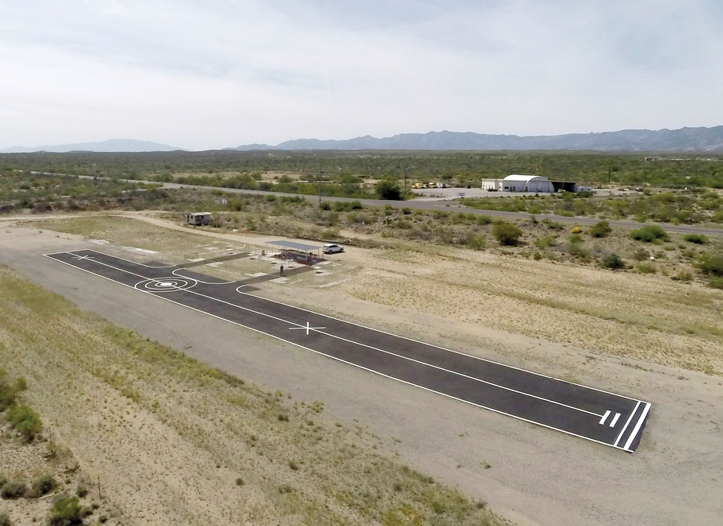 The club's San Manuel flying site as photographed from a member's quad-copter