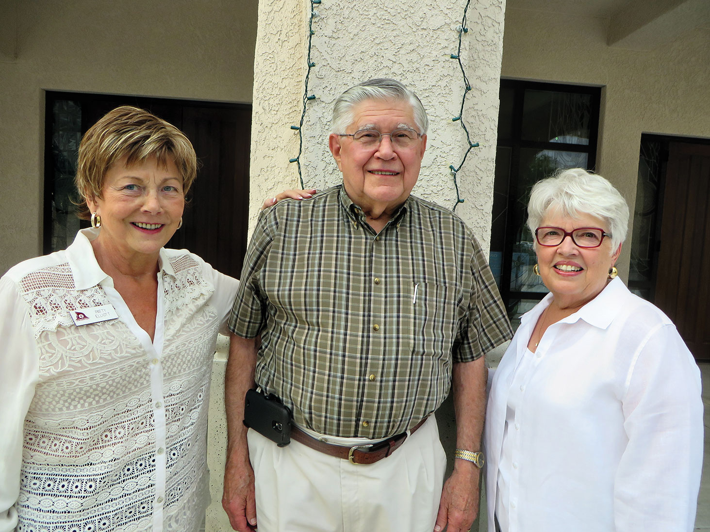 SaddleBrooke residents on the Resurrection Church Pastoral Call Committee are Patty Elliott (left), Palmer Ruschke and Judy Stanard.