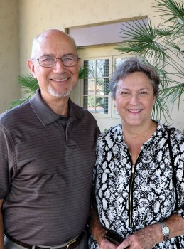 Pastor Roger Pierce and his wife