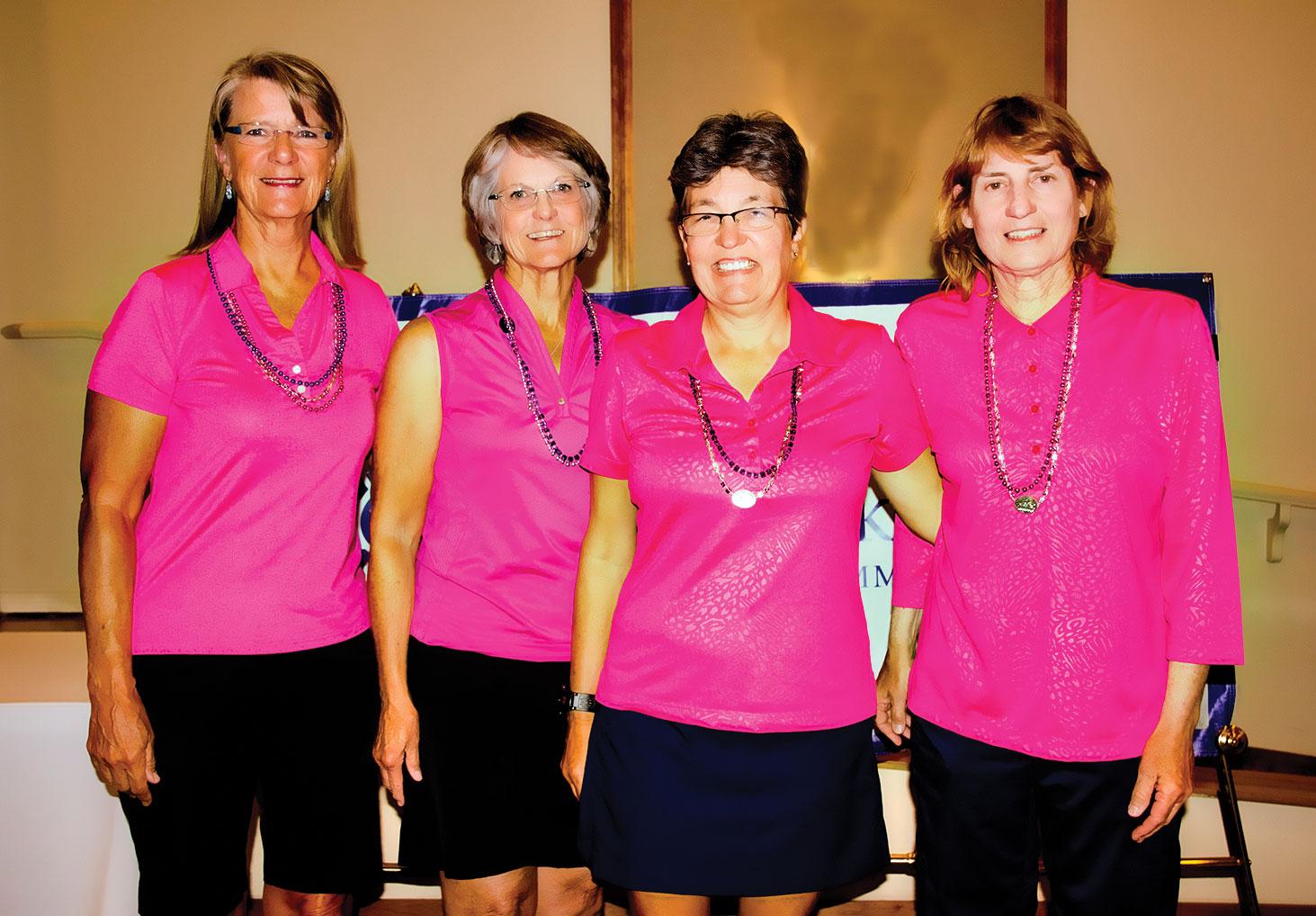 Top Hat Winners: Sandy Rowley, Karen Wilson, Ann Martin and Marcia Katz