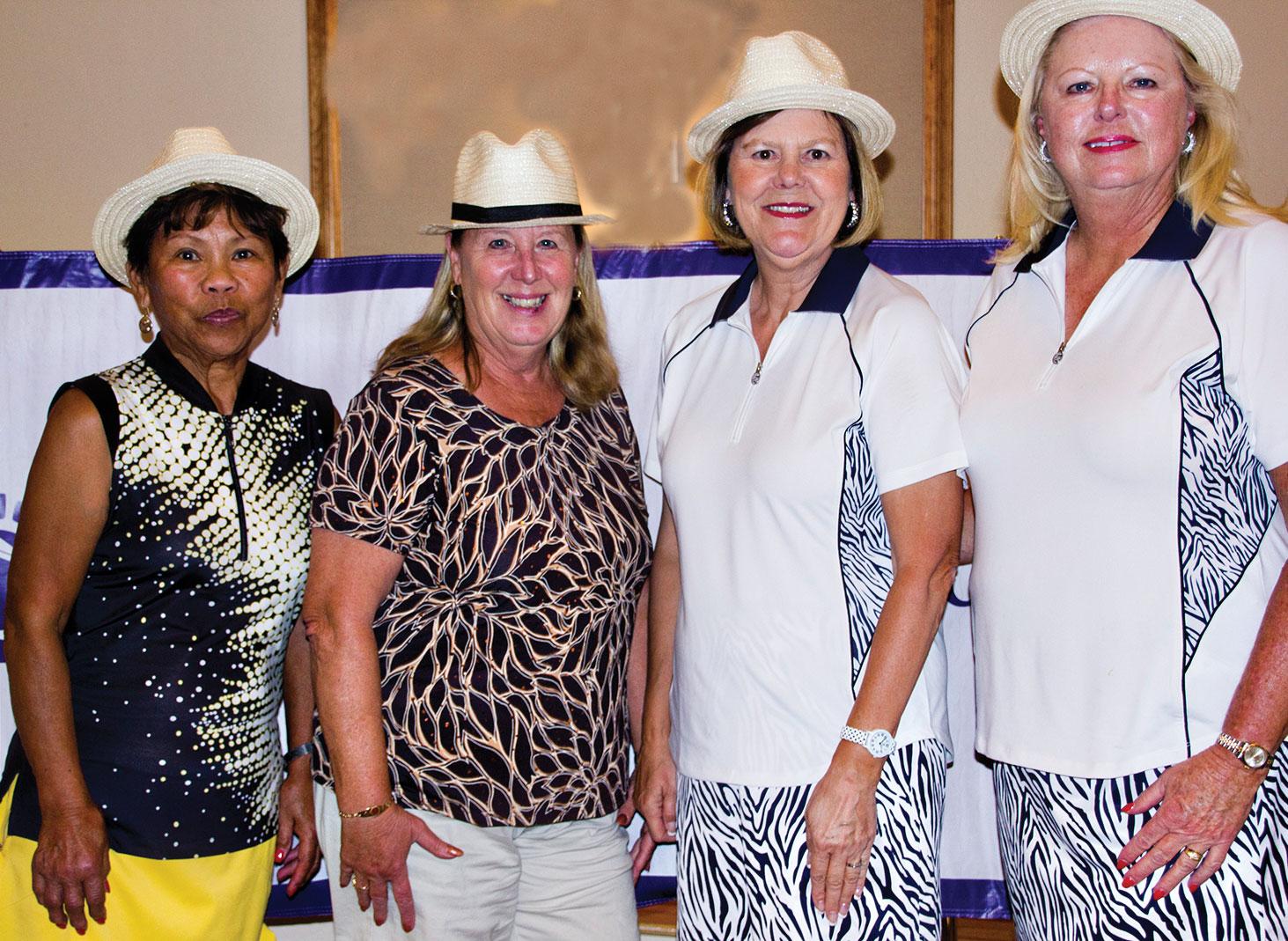 Bow Tie Winners: Angie Denahan, Gloria Belanger, Charlene Leach and Kay Cruise