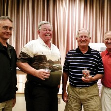 Pictured (left to right) Mike Jahaske, winners Frank McHugh and Steve Bender, and Dennis Marchand.