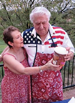 Do you think Barbara Fortino and Ken Lund are reading the ingredients list? Nice shirt, Ken.