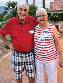 Dick and Barbara Fleming arrive early to enjoy the July fourth party.