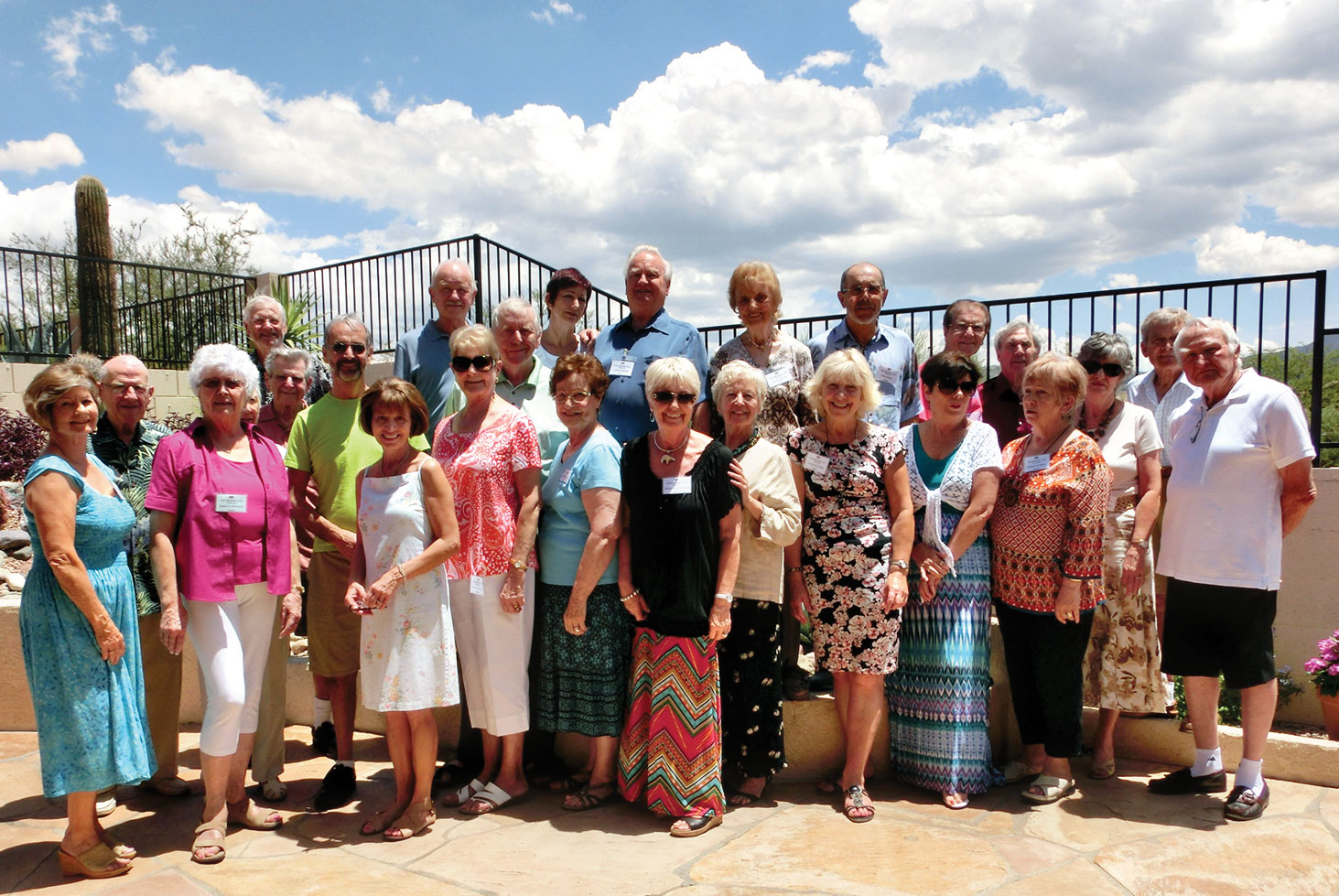British Club members met at the home of Eileen and Mike Sedgwick.