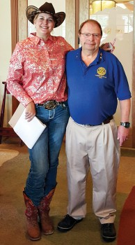 Daria Sparling with Past Rotary President Dick Kroese