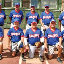 2015 Spring Season Thursday Coyote League Champion – Caliber Collision: Back row: John Sentowski, Steve Schneck, Larry Cusumano, Rob Lowry and Leroy Johnson; front row: George Corrick, Vern Boothby, Jerry Cowart, Dennis Skoneczka and Al Cangeme; photo by Pat Tiefenbach