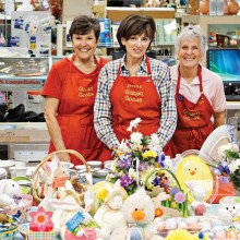 Judy, Jeannie and Sue have a large assortment of holiday décor just waiting for you.