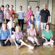 """Tuesday morning classes have been rambunctious this summer. This great group dances to a lyric that states, """"I like my men like my coffee, Hot, Strong and Sweet."""" Seven dances in four weeks; the pace and step numbers are energizing--even in the humidity."""