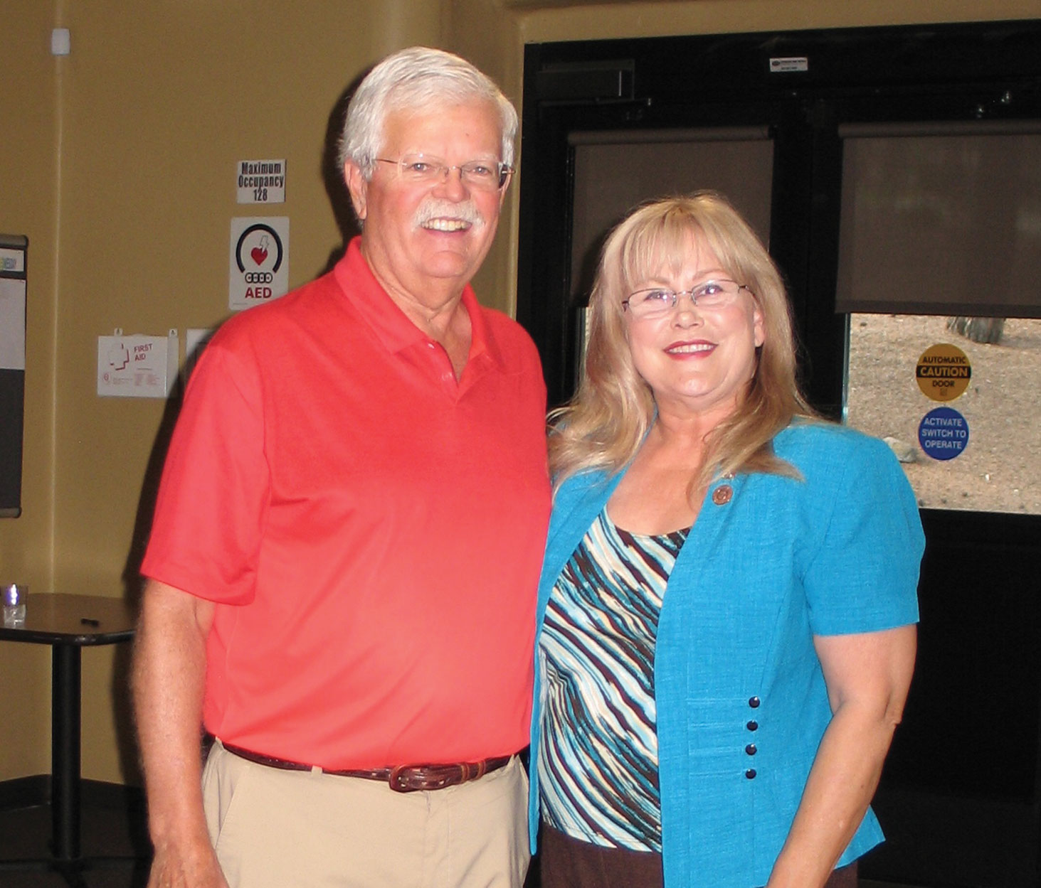 SaddleBrooke Democrats Chairman Stephen Groth and Arizona State Senator Barbara McGuire