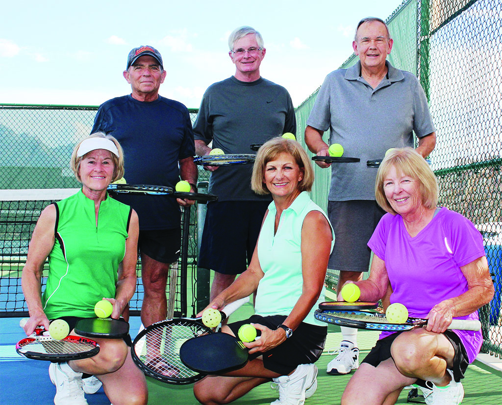 Left to Right, front row: Linda Linegar, Jackie Kline and Mary Hlushko; back row: Larry Gray, Peter Bidwell and Greg Hlushko