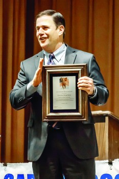 Governor Ducey with his Membership Plaque