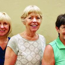 Left to right: Kathy Coffman, Diane Mazzarella, Raye Cobb