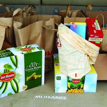 Nearly 150 pounds of non-perishable foods donated by the Niners at their September business meeting.