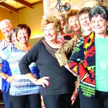 Putter members Sue Rains, Karol Titone, Maude Ruffin, Karen Markley, Donna Vargas, Roberta Wisniewski, Karen Stott and Raye Cobb model Catalina Ranch House fashions