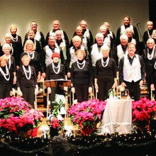 SaddleBrooke Singers at their December 2014 concert; photo by Jim Van Brocklin