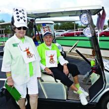 Winner of best themed golf cart decoration is the team of Ann Pelton and Sharon Svoboda.