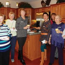Enjoying the December Ladies' Coffee