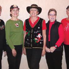 Left to right: Phyllis Cadden, Anne Marie Strubel, Joyce Sutay, Kay Tomaszek and Barbara Brown