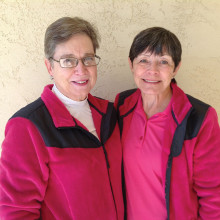 MPLN State Medallion Team Kay Tomaszek (left) and Raye Cobb (right)