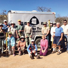 Back row: Elisabeth Wheeler, Garret Ressing, Dave Brinker, Stan Smith, Jerry Patrin, Ray Peale, Fred Norris, Randy Park, Kent Naugle, Shawn Redfield and Tom Kimmel; front: Jackie Hall, Mary Croft, Candy Patrin, Kathy Gish and Marilynn Smith; photo by Sandra Sowell
