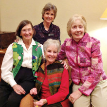 MPLN 2016 Executive Committee from top clockwise: Kathy Schoenwetter, Deb Bunker, Susan Elliott and Karel Titone