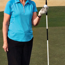Vernie Tupa scores her first hole-in-one!