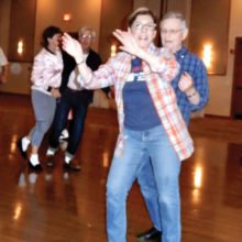 Carol and Mart Gordon do their moves at the Sock Hop.