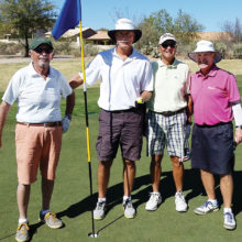 Left to right, the fearsome foursome: Ben Lichtman, Bon Maruniak, Peter Baragona and Dennis Marchand