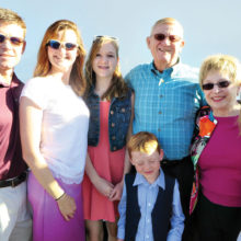 Marv and Jan Wycoff and the Wycoff clan prepare to board the Resurrection Church Easter bus.