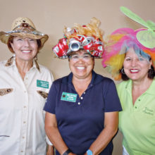 Winners of the outstanding hat competition were Debra Gryniewicz (Best Western), Maggie DeBlock (Craziest) and Sylvia Bonesky (Best Derby).