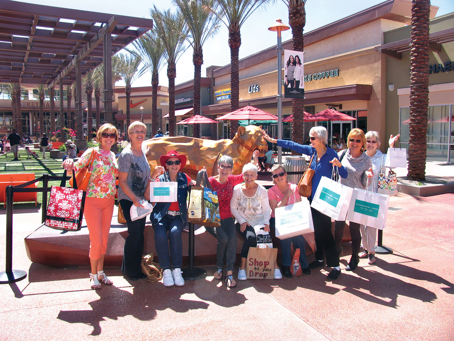 SaddleBrooke Line Dance Club at the Tucson Premium Outlets
