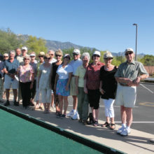 Following Bocce Ball the British Club gathered for a potluck.