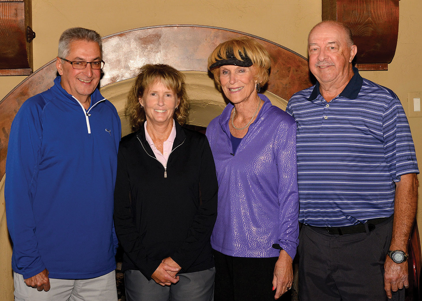 Left to right: Dan Russell, Mary Leversee, Kathleen Weiss and Sam Sollenberger; photo by Bob Koblewski