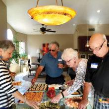 GLAAS members partake of fabulous food.
