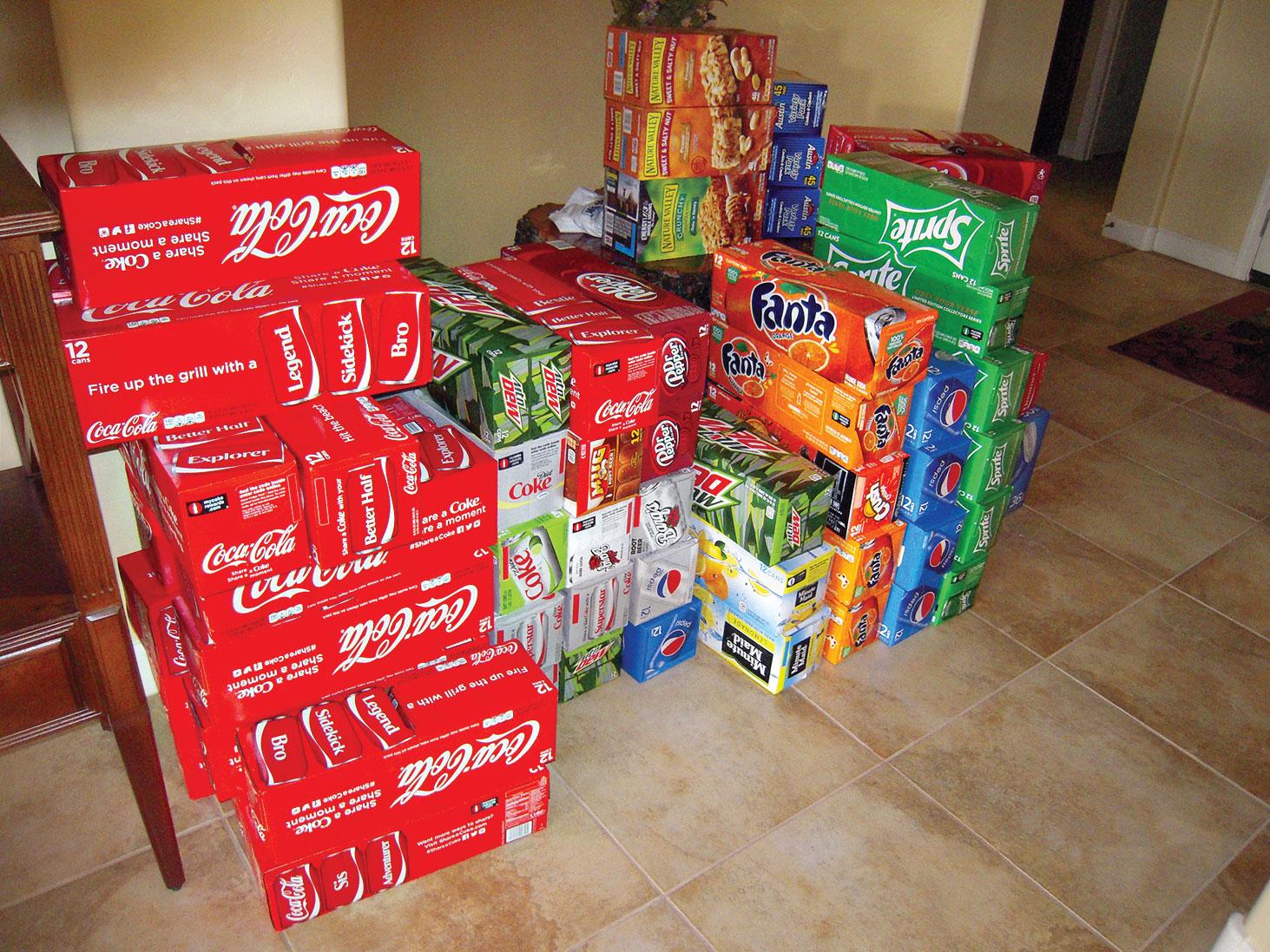 Collecting sodas
