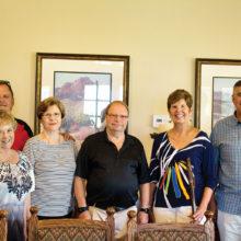 Left to right: Pastor Steve Wilson, Sande Rivas, Sharon Williams, Dick Kroese, Judy Haberski and Steve Willis