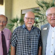SaddleBrooke residents Al Toensing (left), Duane Hartzler and Gary Zellinger are members of the Resurrection Church Men's Breakfasts Committee