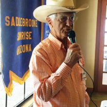 Al Mollenkopf recites some cowboy poetry.