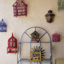 Some of Claudia's birdhouses